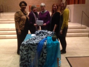 Representatives from CWU and WDP USA at the 2014 WDP service. From left to right: Djamillah Samad, CWU National Executive; Marilyn Lariviere, CWU National President; Susan Skoglund, WDP Board Member; Andrea Miskow and Meagan Manas, WDP Staff.